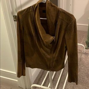 Faux leather/suede jacket